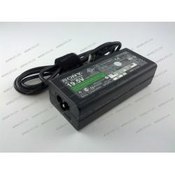 Блок питания для ноутбука SONY 19.5V, 3.9A, 76W, 6.5*4.4-PIN, black + кабель питания! (VGP-AC19V20 ADP-90TH)
