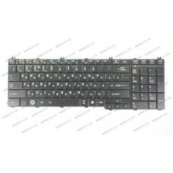 Клавиатура для ноутбука TOSHIBA (C650, C655, L650, L655, C660, L670, L675) rus, black (OEM)
