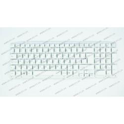 __Клавиатура для ноутбука SONY (VPC-EE series) rus, white, без фрейма (BIG Ener)