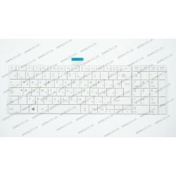 Клавиатура для ноутбука TOSHIBA (C850, C855, C870, C875, L850, L855, L870, L875) rus, white (old design)