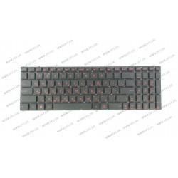 Клавиатура для ноутбука ASUS (G550, N550, N750 series) rus, black, подсветка клавиш, без фрейма