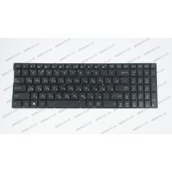 Клавиатура для ноутбука ASUS (N592 series) rus, black, без фрейма, подсветка клавиш