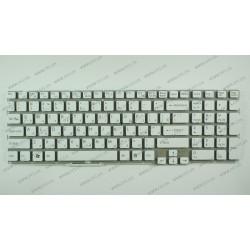 Клавиатура для ноутбука SONY (E15, E17, SVE15, SVE17) rus, white, без фрейма