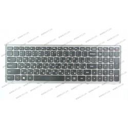 Клавиатура для ноутбука LENOVO (Flex 15, Flex 15D, G500s, G505s, S510p) rus, black, silver frame