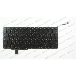 Клавиатура для ноутбука APPLE (MacBook Pro: A1297 (2009, 2010, 2011), 17) rus, black, BIG Enter