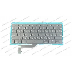 Клавиатура для ноутбука APPLE (MacBook Pro Retina: A1398, MC975, MC976(2012) ) rus, black, подсветка клавиш