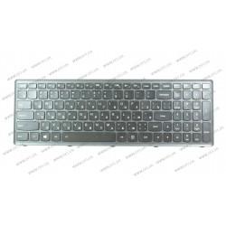 Клавиатура для ноутбука LENOVO (Flex 15, Flex 15D, G500s, G505s, S510p) rus, black, black frame, подсветка клавиш