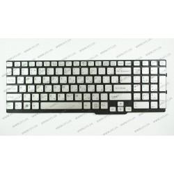 Клавиатура для ноутбука SONY (SVS15 series) rus, silver, без фрейма
