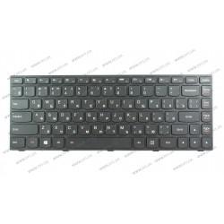 Клавиатура для ноутбука LENOVO (G40-30, G40-45, G40-70, Z40-70, Z40-75, Flex 2-14) rus, black, black frame, подсветка клавиш