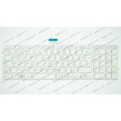 Клавиатура для ноутбука TOSHIBA (C850, C855, C870, C875, L850, L855, L870, L875) rus, white