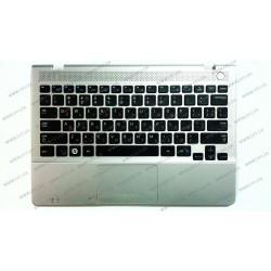 Клавиатура для ноутбука SAMSUNG (NP300U1 Keyboard+Touchpad+передняя панель) rus, black
