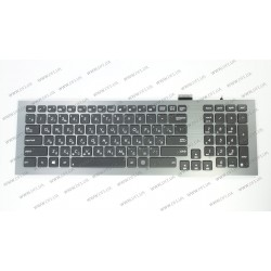 Клавиатура для ноутбука ASUS (G75, G75Vw, G75Vx) rus, black, подсветка клавиш