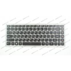 Клавиатура для ноутбука LENOVO (Flex 14, G400s, G405s, S410p, Z410) rus, black, gray frame