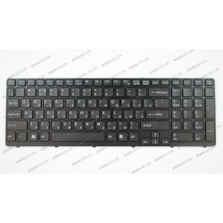 Клавиатура для ноутбука SONY (E15, E17, SVE15, SVE17) rus, black, black frame