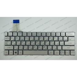 _Клавиатура для ноутбука ACER (AS: P3-131, TM: TMX313-M) rus, silver, без фрейма