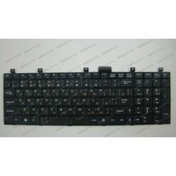 Клавиатура для ноутбука MSI (A5000, CR500, CX500, GX600, VR600, VX600, UX600, LG E500) rus, black
