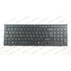 _Клавиатура для ноутбука SONY (VPC-EE series) rus, black, с фреймом