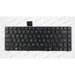 Клавиатура для ноутбука ASUS (K45, U44, U46) rus, black, без фрейма