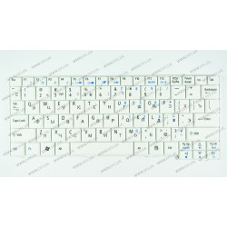 Клавиатура для ноутбука ACER (AS: A110, A150, D150, D210, D250, P531, ZG5, EM: eM250), rus, white