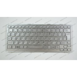Клавиатура для ноутбука TOSHIBA (NB200, NB201, NB202, N203, NB205) rus, silver