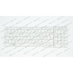 Клавиатура для ноутбука TOSHIBA (C650, C655, L650, L655, C660, L670, L675) rus, white