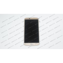 Модуль матрица+тачскрин для LG K10 K410, golden