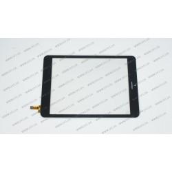 Тачскрин (сенсорное стекло) 80701-0A4791C, 7,85, внешний размер 198*134 мм, рабочий размер 161*121 мм, 10pin, чёрный