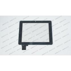 Тачскрин (сенсорное стекло) для 70311B1, 7, внешний размер 176*135 мм, рабочий размер 142*116 мм, черный