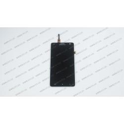 Модуль матрица+тачскрин для Lenovo S856, black