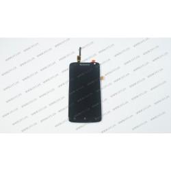 Модуль матрица + тачскрин для Lenovo S820, black