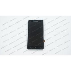 Модуль матрица+тачскрин для Lenovo A536, black ( ОРИГИНАЛ, С РАМКОЙ)