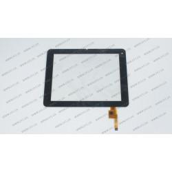 Тачскрин (сенсорное стекло) для IconBit NetTAB PARUS II, TOPSUN_D0001_A2, 8, внешний размер 196*150 мм, рабочий размер 163*122 мм, 12 pin, черный