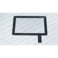 Тачскрин (сенсорное стекло) для DNS AirTab E102, E-C10002-02, 10, внешний размер 264*162 мм, рабочая область 222*136 мм, 50 pin, черный