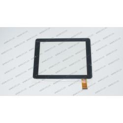 Тачскрин (сенсорное стекло) 0019-V01, 8, внешний размер 196*148 мм, рабочий размер 163*122 мм, 32 pin, черный