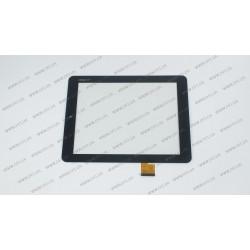 Тачскрин (сенсорное стекло) 080091-01A-V1, 8, внешний размер 197х148 мм, рабочий размер 163х122 мм, 40 pin, белый
