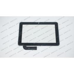 Тачскрин (сенсорное стекло) 7087-03, 7, внешний размер 185*118 мм, 30 pin, черный