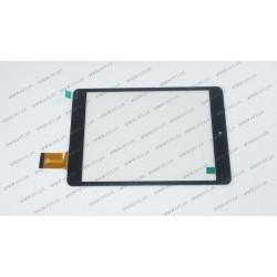 Тачскрин (сенсорное стекло) 0539-V03, внешний размер 197x132 мм, 40 pin, черный