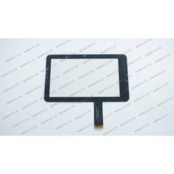Тачскрин (сенсорное стекло) 04-0700-0618 v2, 7, внешний размер 186*113 мм, рабочий размер 155*91 мм, 61pin, черный