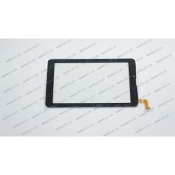 Тачскрин (сенсорное стекло) для Nomi C07004, MTCTP-70760,  7, внешний размер 184*104 мм, рабочая часть 155*87 мм, 31 pin, черный