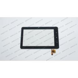 Тачскрин (сенсорное стекло) для Impression ImPAD 0411, TOPSUN_C0021_A1, 7, внешний размер 184*113 мм, рабочий размер 153*81 мм, 12 pin, черный