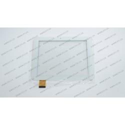 Тачскрин (сенсорное стекло) E-C8020-02, 8, внешний размер 197*150 мм, рабочий размер 163*122 мм, 40 pin, белый
