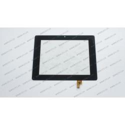 Тачскрин (сенсорное стекло) для Teclast P85HD, Pingbo PB80M805-01, 8, внешний размер 204*159 мм, внутренний размер 162*122 мм, 6 pin, черный