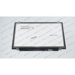 Матрица 14.0 B140QAN01.5 (2560*1440, 40pin(eDP), LED, SLIM (вертикальные ушки), матовая, разъем справа внизу) для ноутбука