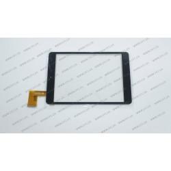 Тачскрин (сенсорное стекло) HK80DR2285-1 XDX20140620-1, 7,85, внешний размер 196*132 мм, рабочая часть 159*118 мм, черный