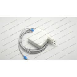 Оригинальный блок питания для ноутбука APPLE USB-C 61W (20.3V/3A, 14.5V/2A, 9V/3A, 5.2V/2.4A), Type-C, USB3.1, White (с кабелем!) (A1718)