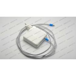Оригинальный блок питания для ноутбука APPLE USB-C 87W (20.3V/4.3A, 14.5V/2A, 9V/3A, 5.2V/2.4A), Type-C, USB3.1, White (с кабелем!) (A1718, A1706, A1708)
