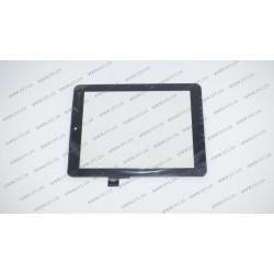 Тачскрин (сенсорное стекло) F0264, 8, внешний размер 198*148 мм, внутренний размер 162*122 мм, 51pin, чёрный