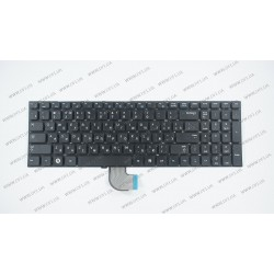 Клавиатура для ноутбука SAMSUNG (RC528, RC530, RF510, RF511, Q530) rus, black, без фрейма