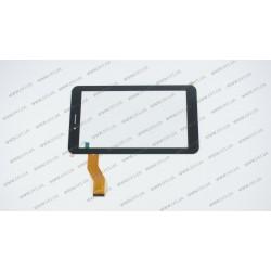 Тачскрин (сенсорное стекло) 04-0700-0866 v1, 7, внешний размер 186*105 мм, рабочий размер 155*87 мм, 51 pin, черный