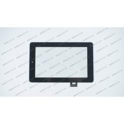 Тачскрин (сенсорное стекло) 070283-01A-V1, 7, внешний размер 190*120 мм, 40 pin, черный